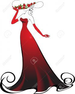 Classy clipart elegant lady