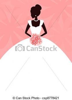 Elegance  clipart modern bride