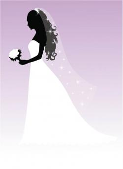 Bride clipart fall wedding