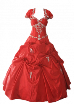 Red Dress clipart ball gown