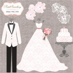 Wedding Dress clipart tuxedo