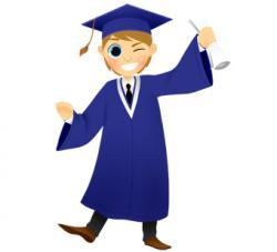 Men clipart graduation