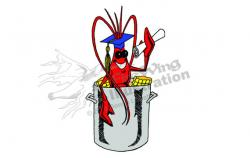 Crawfish clipart graduation