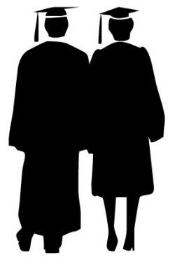 Couple clipart graduate