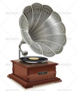 Gramophone clipart old school