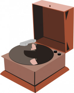 Record Player clipart 50's
