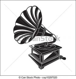 Gramophone clipart vector
