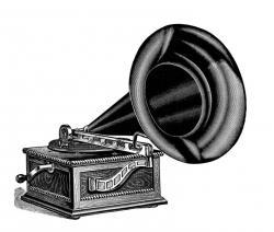 Gramophone clipart victorian