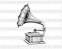 Record Player clipart victorian