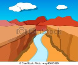 Canyon clipart cartoon