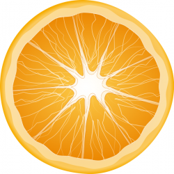 Citrus clipart half orange