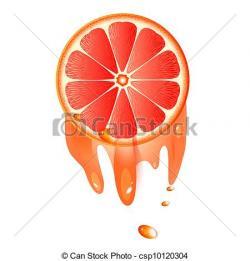 Grapefruit clipart juicy