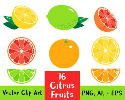 Citrus clipart lemon and lime
