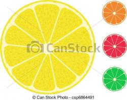 Grapefruit clipart yellow lemon