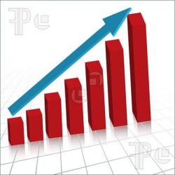 Graph clipart business growth