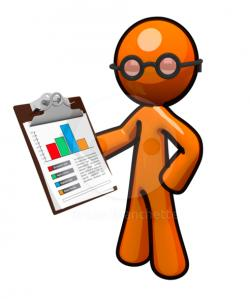 Graph clipart recording data
