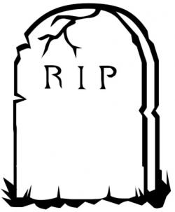 Dying clipart gravestone