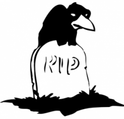 Grave clipart bird