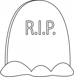 Gravestone clipart black and white