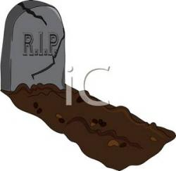 Grave clipart burial
