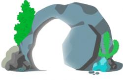 Stone clipart rolled away