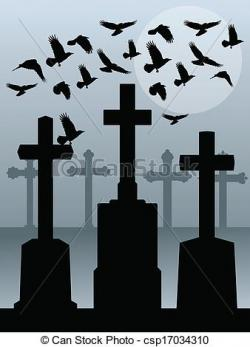 Graves clipart spooky cemetery