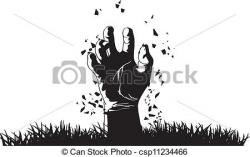 Graves clipart zombie hand