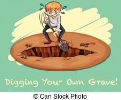 Grave clipart hole