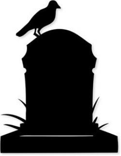 Grave clipart silhouette