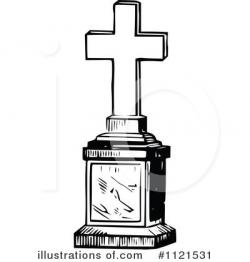 Grave clipart tombstone cross