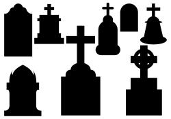 Tombstone clipart spooky cemetery