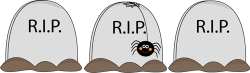 Cenetery clipart halloween