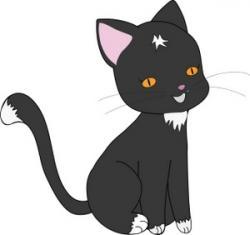 Black Cat clipart cat sitting