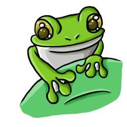 Bullfrog clipart green tree frog