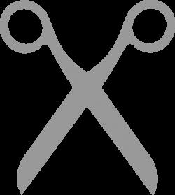 Grey clipart scissors