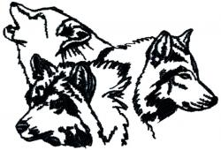 White Wolf clipart wolf pack