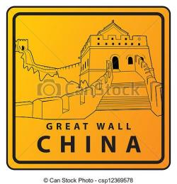 Travel clipart great wall china