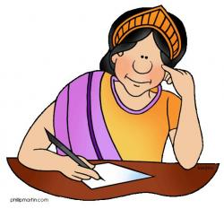 Philosopher clipart writer woman