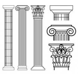 Columns clipart three greek