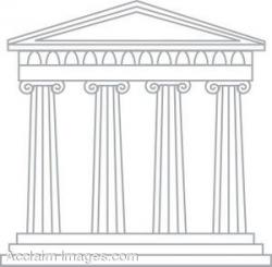 Columns clipart greek building