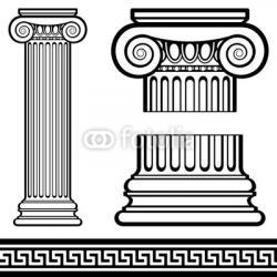 Columns clipart ionic column