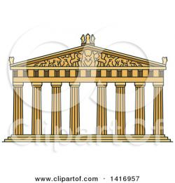 Parthenon clipart greek building