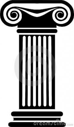 Columns clipart black and white
