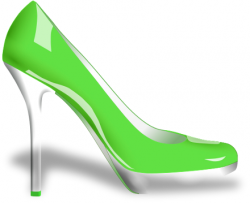 Green clipart high heel