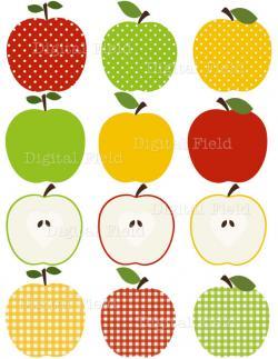 Apple clipart plaid