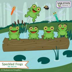 Tadpole clipart speckled frog