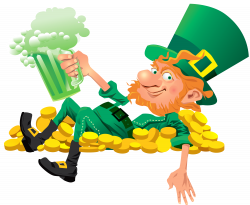 Irish clipart leprechaun beer