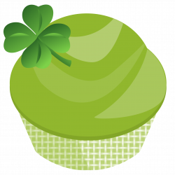 Cupcake clipart st patricks day