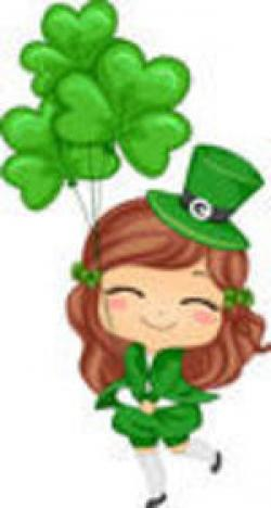 Girl clipart st patrick's day