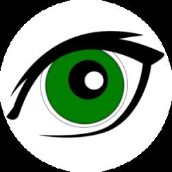 Green Eyes clipart
